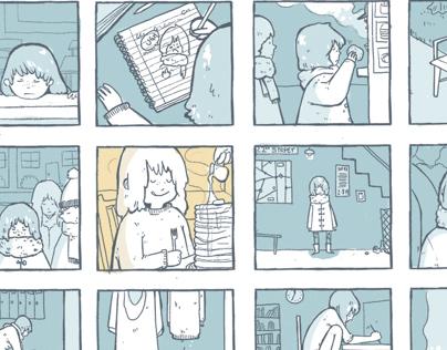 I Hate Winter: Hourly comic