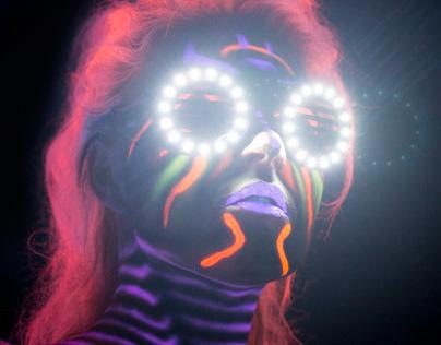 UV Bodypainting Angel Eyes