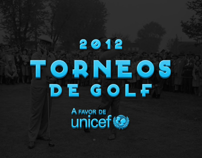 Golf tournaments poster for Unicef