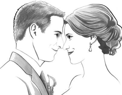 Wedding/Couple Ink Portraits