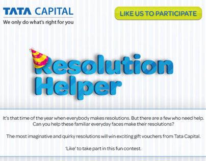 Tata Capital New Year Resolution Helper