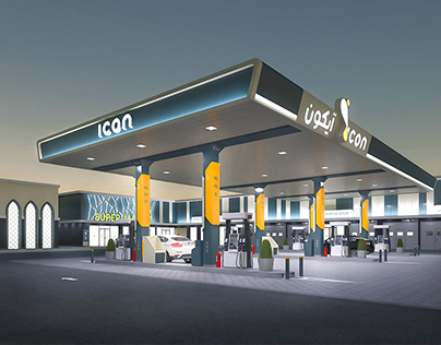 Design of gas station.