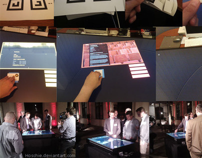 Interactive table with Ventuz 2012
