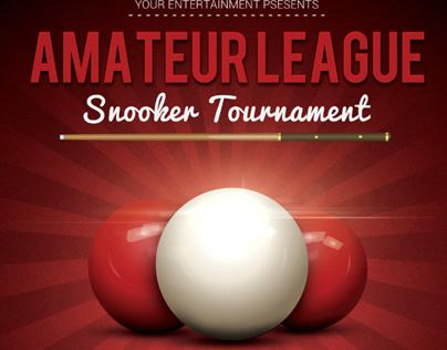 Snooker Flyer Template V2