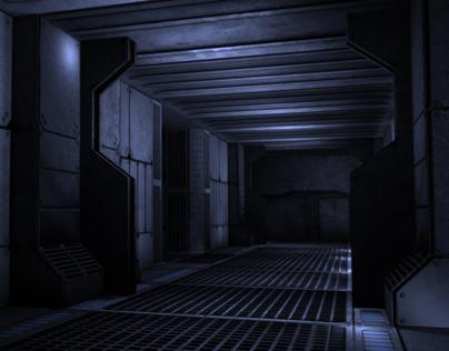 Sci-Fi Corridor (Low-Poly Game Environment)