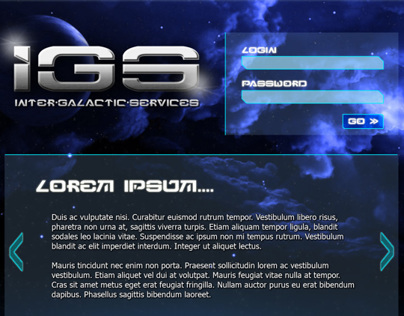 Web & Logo Design for ROL playing game site