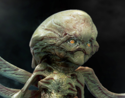 Un-used alien design for Falling Skies season 2.