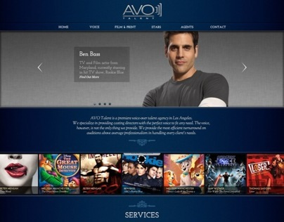 AVO Talent Agency Website