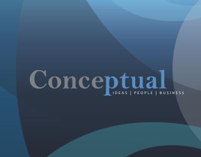 Uncommissioned print design for conceptual strategy ltd