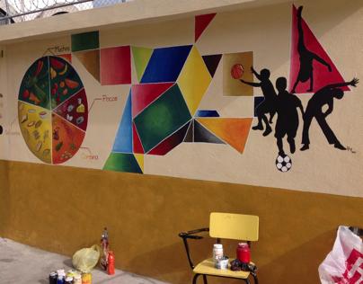 Mural (cooperativa escolar / bodega deportes)