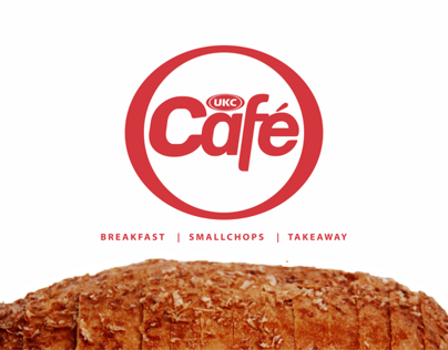 UKC Cafe brand identity and print project