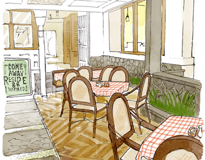 Selaras Guesthouse & Resto - Menu Book Illustration
