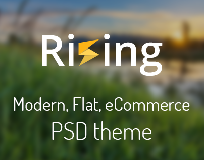 Rising - Modern, flat eCommerce PSD theme
