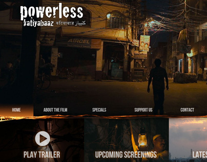 Powerless Film website for Globalistan Productions