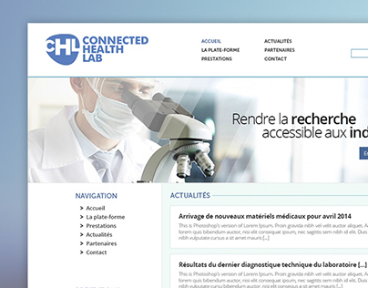 Connected Health Lab - Webdesign