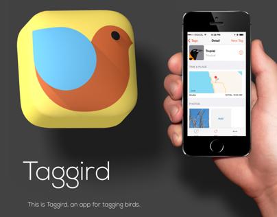 Taggird App Icon Design