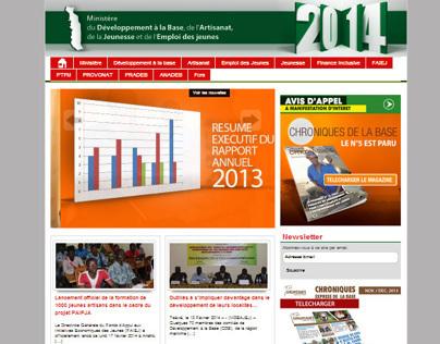 Site du Ministère du Développement à la base du TOGO