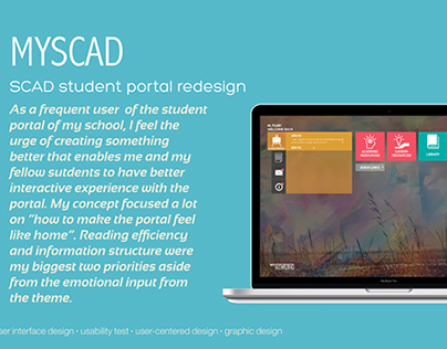 MySCAD Student Portal Re-design