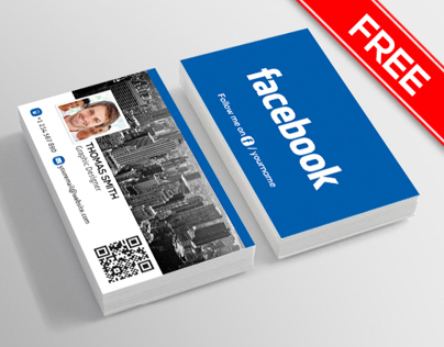 facebook business card free on behance