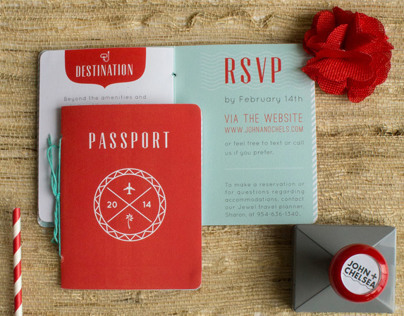 Destination Wedding Invitations : Chelsea + John
