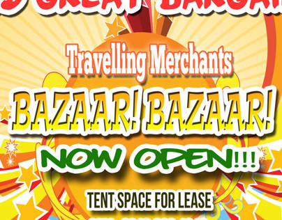 Travelling Merchants Bazaar Banner