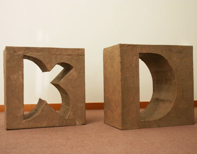 Modular Typography and Sculpture