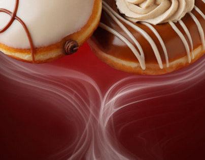 Krispy Kreme coffee donuts
