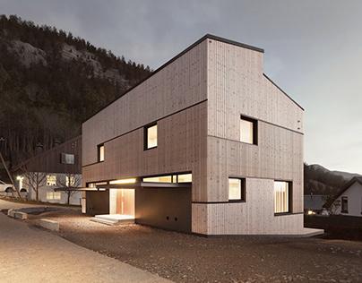 Duplex on a Hillside