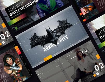 UI Concept for Justice League