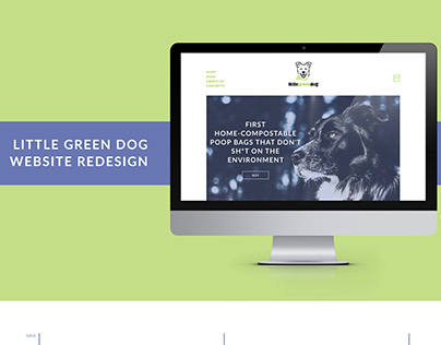 The Little green dog - website redesign