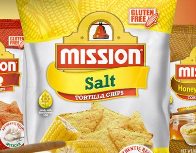 Mission Tortilla Chips Main Range for Spanish Market
