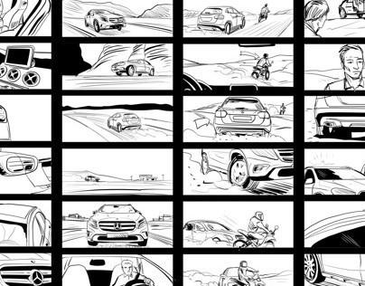 Storyboard for Mercedes-Benz GLA