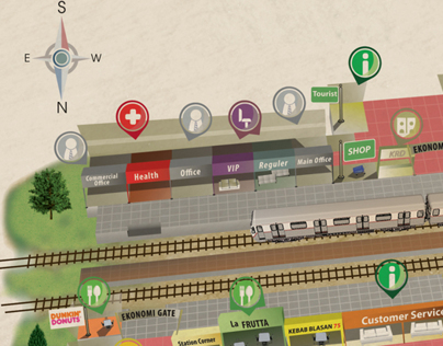 Infographic Maps Bandung Train Station Concept