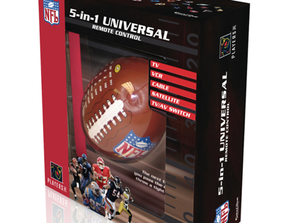 Packaging Design for NFL licensed remote control.