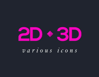 2D • 3D Various Icons