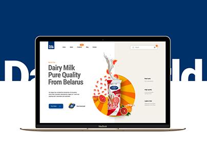 """""""Молочный мир"""" web-site redesign"""