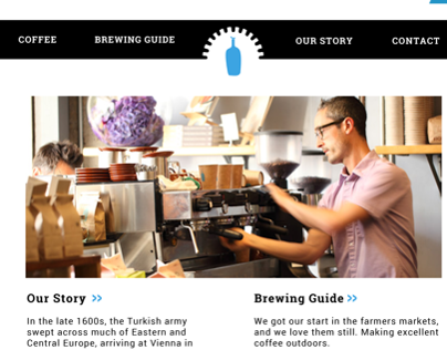 Blue Bottle Coffee Website Mockup