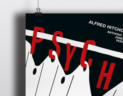 Psycho Poster (Alfred Hitchcock)