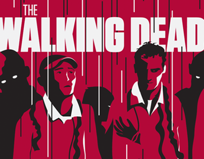 Official THE WALKING DEAD screen print for Hero Complex
