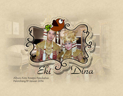 Desain Foto Album Wedding Dina dan Eki