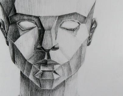 Planar Head Self Portrait