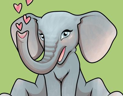 Baby Elephant illustration with Adobe Ideas