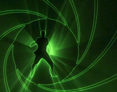Heineken Skyfall 007 'Crack the Case' Lazer Projection