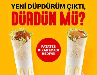 McDonald's Düpdürüm Lansman Bannerlar