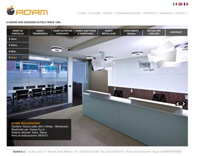 ADAM s.r.l. website