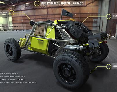 Buggy 3d  dans le garage