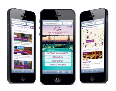 Gansevoort Hotel Mobile Website