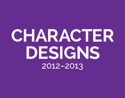 Character Designs 2012-2013