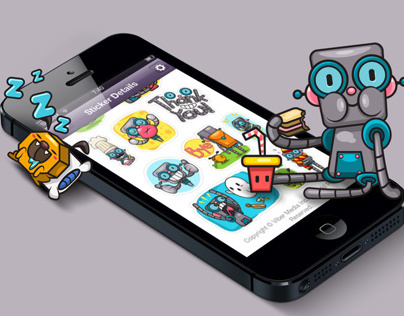 Viber Robot Stickers