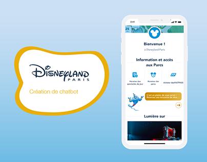 Chatbot - Disneyland Paris - Maquette Adobe XD